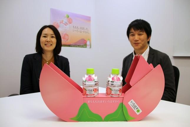 右から銭高明さん(マーケティング本部)と、渡辺幸恵さん(iMarketing)