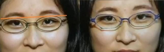 歪んだフレームには顔の左右差を目立ちにくくする効果