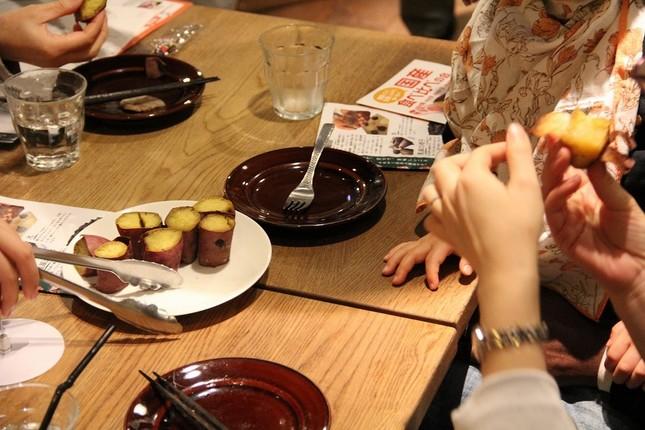 「きき芋」3食材は、水分量や甘味に違い
