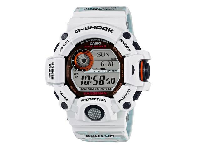 G-SHOCKとスノーボードブランドBURTONとのコラボモデル「GW-9400BTJ-8JR」