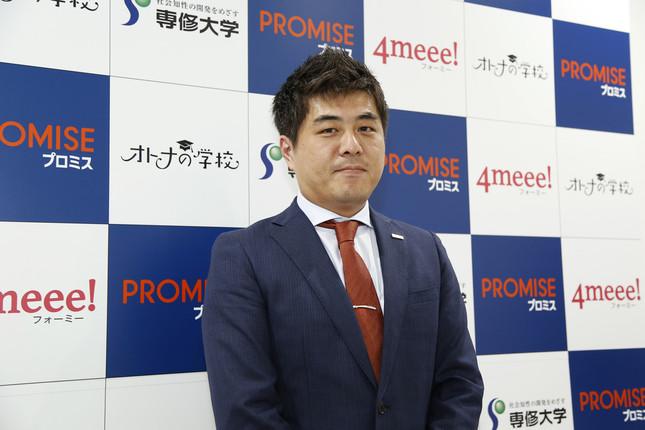 プロミス名古屋お客様サービスプラザプラザ長の江川孝志さん