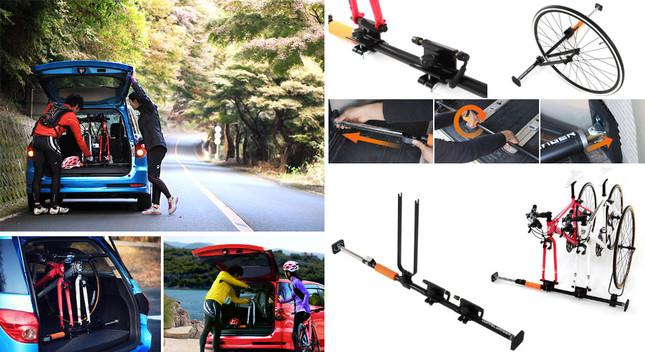 車内取り付けで安全に自転車を運べる運搬用装置登場!