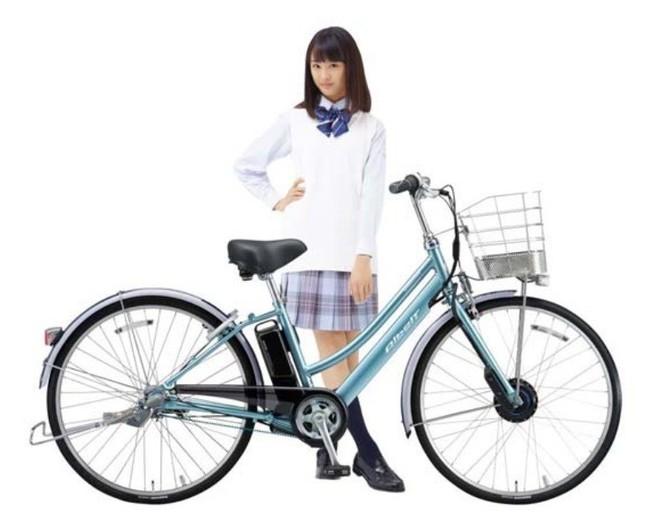 最新型通学用電動アシスト自転車で快適・安全!