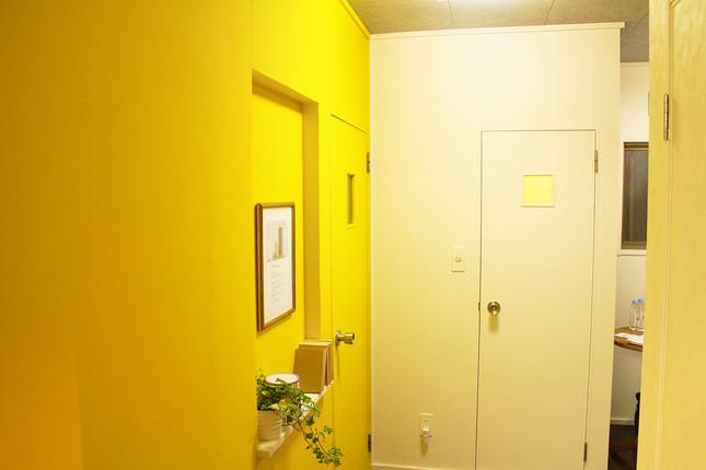 黄色を基調としたオシャレな空間に変身