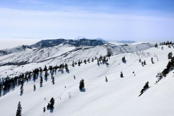 天然の雪山を滑るプライベートツアー