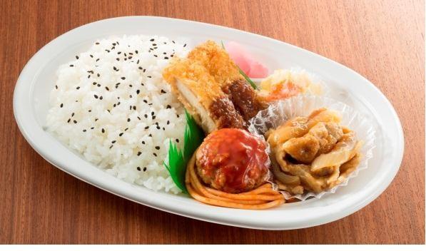 チキンカツ&豚生姜焼きプレート