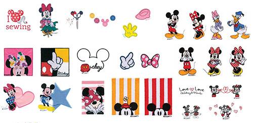 (C)Disney「FM1400D」の内蔵刺しゅう模様の一例