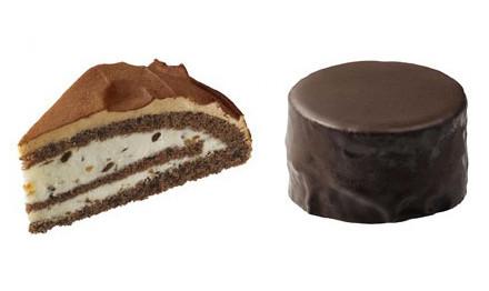 ショコラズコット(左)とザッハトルテ