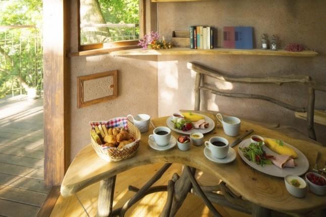 森の木漏れ日 キッチン?ツリーハウスで朝食を?