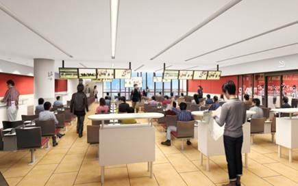 2~6階の各フロアには合計478席の座席を配置
