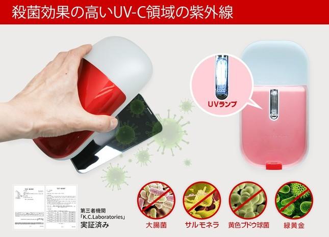 UV-Cは紫外線の中でも殺菌効果が高い