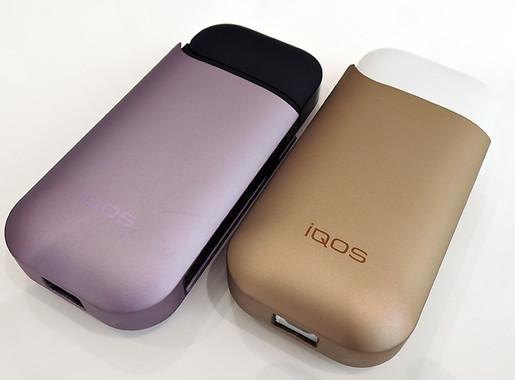 iQOSストアでキットを購入するともらえる、パープルとゴールドのハードケース