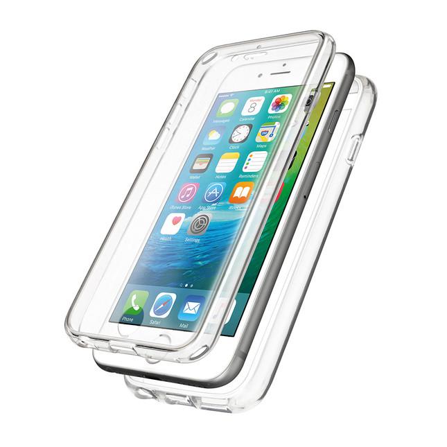 iPhoneのデザインを損なわないクリア素材で360度全面保護