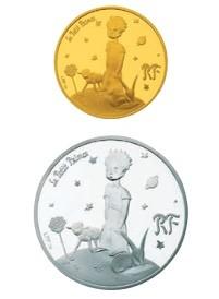 「王子さまと仲間たち」(上)50ユーロ金貨(下)10ユーロ銀貨