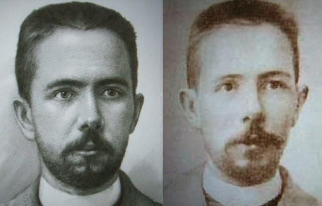 若くして亡くなったカリンニコフの肖像画と写真