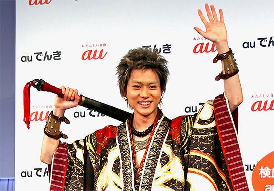 auでんきの発表会にゲスト出演した、鬼ちゃんこと菅田将暉さん