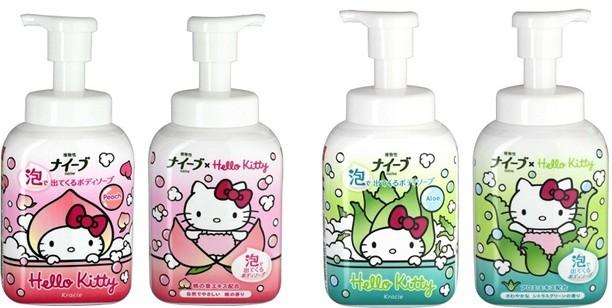 ハローキティデザインのリバーシブルボトルでお風呂タイムを楽しく!