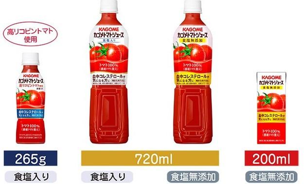 2月2日に「機能性表示食品」として再発売されるカゴメトマトジュース4商品