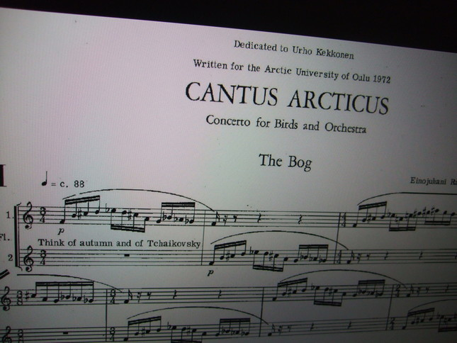 カントゥス・アルクティクス 1曲目の楽譜