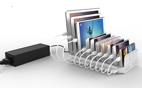 10台のスマートデバイスをスマートに同時充電