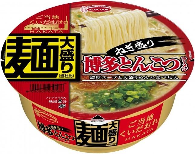 濃厚豚骨スープと歯切れの良い大盛り細めんが