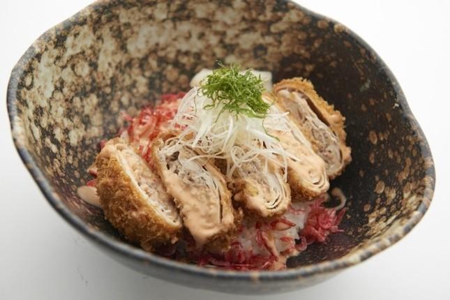 「めんたいソースカツ丼」