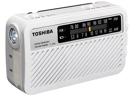 スマホや携帯も手回し充電可能なUSB端子装備