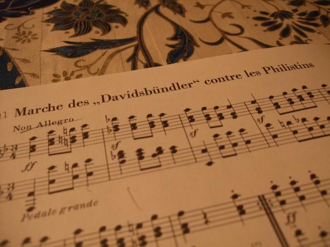 最終21曲目、力強く始まる「フィリステンを討つダヴィッド同盟の行進」