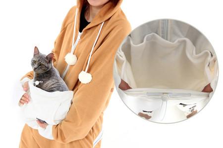 内ポケットは起毛スムース素材を採用。猫もよろこぶやわらかい手触りが実現。