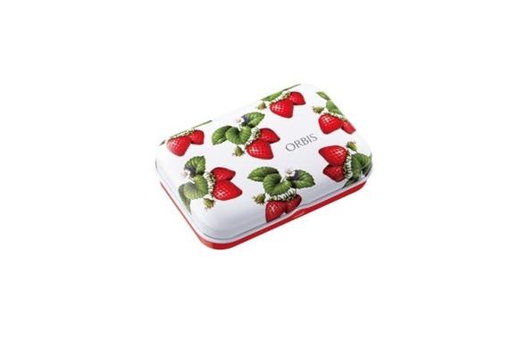 携帯用ケースはアンケート得票数最多の「イチゴの総柄」デザインを採用
