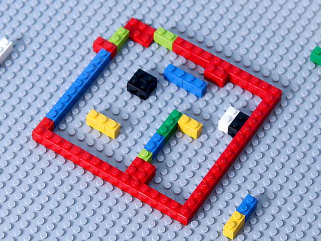 おもちゃのブロックで間取りを作る