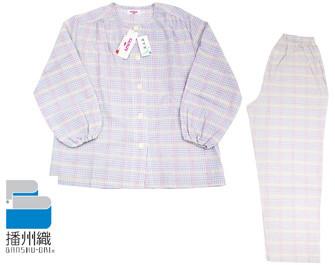 女性用の「播州織」パジャマ
