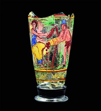 脚付彩絵杯(1世紀)©NMA / Thierry Ollivier