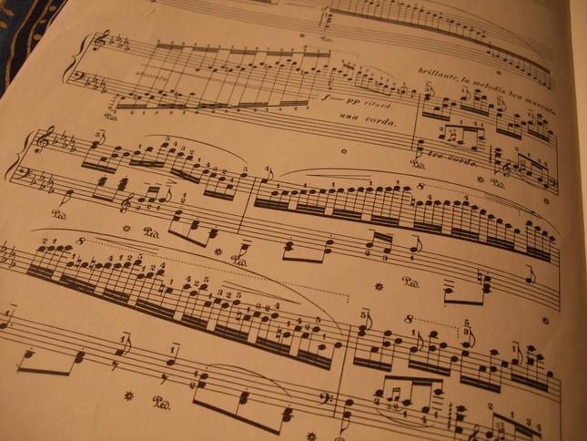 曲途中は、ピアニストに超絶技巧を要求する華麗なるパッセージが