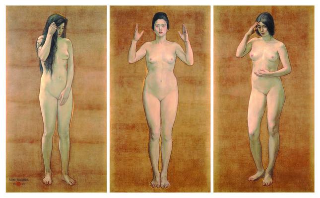 重要文化財「智・感・情」黒田清輝 東京国立博物館蔵
