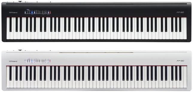 ローランドピアノ・デジタル 『FP-30-BK』(ブラック)と『FP-30-WH』(ホワイト)