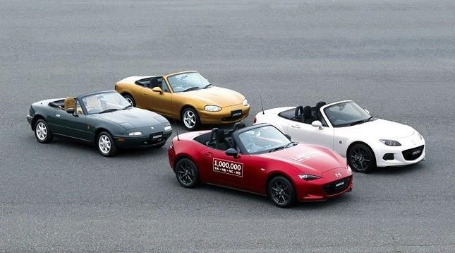 累計生産台数が100万台に達した「マツダ ロードスター」