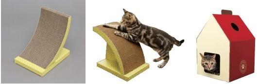 猫の習性や環境に合わせて選べる形状
