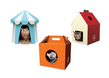 つめとぎ BOX(サーカステントタイプ、ケーキ箱タイプ、ハウスタイプ)