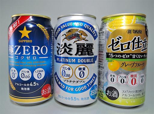 プリン体を抑えたビール類は大手メーカー各社から発売されている