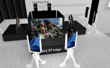 Galaxy S7 edgeブースのオートフォーカス性能体験コーナー