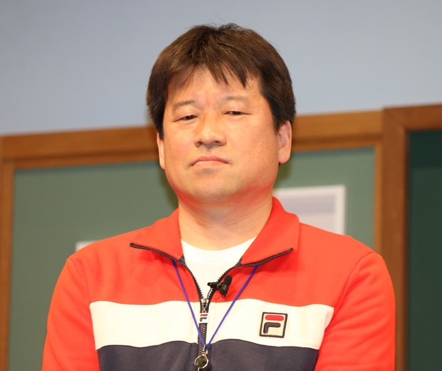 体育教師役の佐藤さん