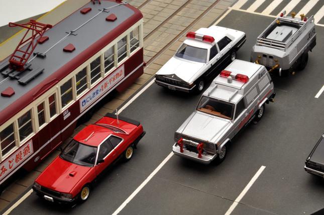 トミーテックが展開する「西部警察」のミニカー各種