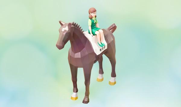「お馬のフチ子」プレミアムフィギュア