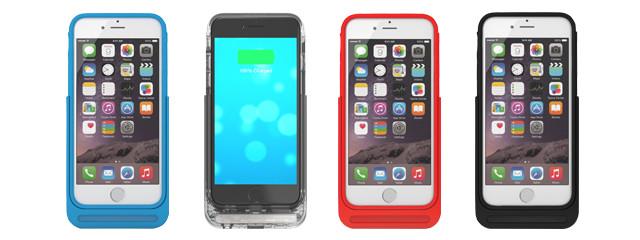 モバイルバッテリーと可動式ACプラグがひとつになったiPhoneケース