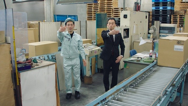帯広信用金庫の「しんきんマン」は工場で撮影を行った