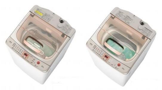 しつこい泥汚れからデリケートな素材の衣類、ダブルサイズの毛布まで幅広い洗濯ニーズに応える!(写真は、「AQW‐TW1000E」(左)と「AQW‐VW1000E」)