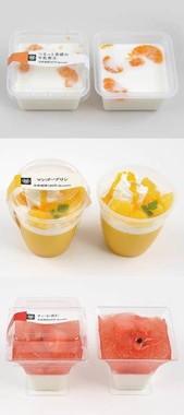 牛乳寒天や夏のフルーツを使用したデザート