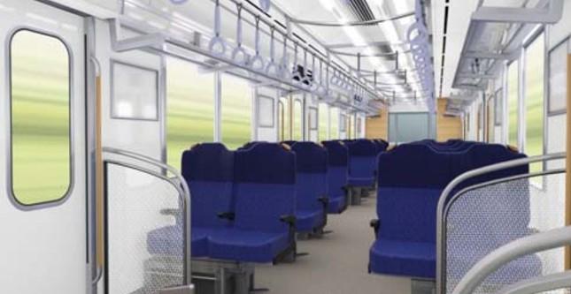 クロス状態の座席(イメージ)
