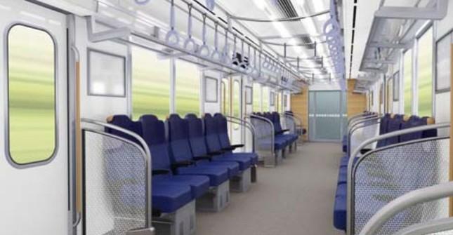 ロング状態の座席(イメージ)